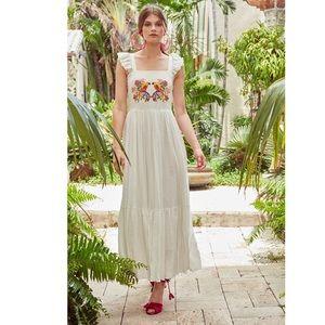 Free People Carolina K Kuna Embroidered Dress